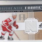 Johan Franzen Authentic Fabrics Jersey 2011-12 UD SP Authentic #AFJF Red Wings