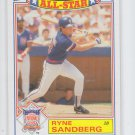 Ryne Sandberg All Star Game Commeorative Set Single 1987 Topps #3/22 Cubs