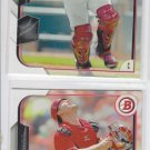 Devin Mesoracao Trading Card Lot of (2) 2015 Bowman #96 Reds