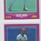 Ozzie Smith Trading Card Lot of (2) 1988 Score #12 Cardinals