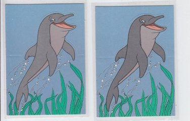 Einstein Popup Trading Card Lot of (2) 1995 Skybox Free Willy #P1 *ED