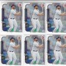 Evan Gattis Trading Card Lot of (6) 2015 Bowman #71 Astros
