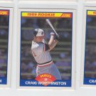 Craig Worthington Trading Card Lot of (3) 1989 Score RC #636 Orioles