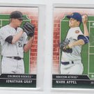 Mark Appel Jonathan Gray Draft Day Lot of (2) 2013 Bowman #DD-AG
