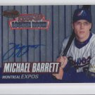 Michael Barrett Auto RC On Card 1999 Bowmans Best #RA2 Expos *BILL