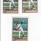 Bruce Hurst Oversize Trading Card Lot of (3) 1989 Bowman #451 Padres