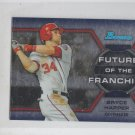 Bryce Harper Future of the Franchise Mini  2013 Bowman Chrome # FF-BHA Nationals