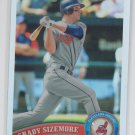 Grady Sizemore Refractor Parallel 2011 Topps Chome #134