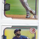 Elvis Andrus Trading Card Lot of (2) 2015 Bowman #110 Rangers