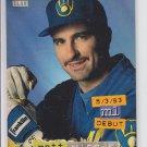 Matt Mieske Golden Rainbow 1994 Stadium Club #126 Brewers