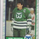 Ron Francis Trading Card Single 1989-90 Topps #175 Whalers