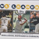 Matt Holliday Ryan Howard Miguel Cabrera Trading Card 2008 Topps LL #58