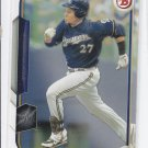 Carlos Gomez Trading Card Single 2015 Bowman #57 Brewers