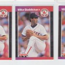 Mike Boddicker Trading Card Lot of (3) 1989 Donruss #612 Red Sox