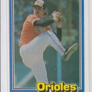 Mike Flanagan Trading Card Single 1981 Donruss #234 Orioles NMT