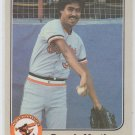 Dennis Martinez Trading Card Single 1983 Fleer #64 Orioles