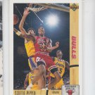 Scottie Pippen Trading Card Single 1991-92 Upper Deck #125 Bulls