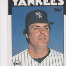 Lou Pinella Trading Card Single 1985 Topps Traded #85T Yankees