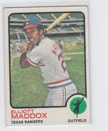Elliott Maddox Baseball Trading Card Single 1973 Topps #658 Rangers VGEX  *BILL