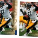 Richard Huntley Trading Card Lot of (2) 2000 UD Gold Reserve #133 Stelelers