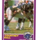 Courtney Hall Trading Card Single 1989 Score Supplemental #420S Vikings