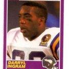 Darryl Ingram RC Trading Card Single 1989 Score Supplemental #423S Vikings