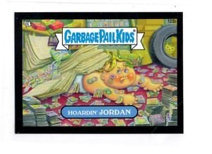 Hoardin' Jordan Black Parallel 2013 Topps Garbage Pail Kids Mini #123b