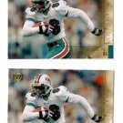 Oronde Gadsden Trading Card Lot of (2) 2000 UD Gold Reserve #88 Dolphins