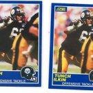 Tunch Ilkin RC Trading Card Lot of (2) 1989 Score #89 Steelers