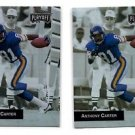 Anthony Carter Trading Card Lot of (2) 1993 Playoff #63