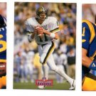 Jim Everett Portraits Trading Card Lot (3) 1991  Pro Line #8 (2) & #3 (1) Bears