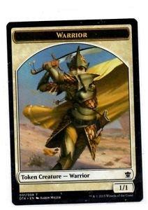Warrior Token Single Magic The Gathering Dragons Of Tarkir #001/008 T x1