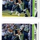 Russell Wilson Trading Card Lot of (2) 2013 Score #193 Seahawks
