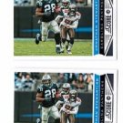 Jonathan Stewart Trading Card Lot of (2) 2013 Score #31 Panthers