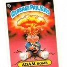 Adam Bomb Checklist Variation SP Sticker 1985 Topps Garbage Pail Kids UK #8a