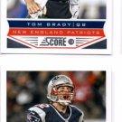 Tom Brady Trading Card Lot of (2) 2013 Score #123 Patriots
