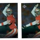 Marton Hanks Trading Card Lot of (2) 1996 Upper Deck Silver #205 49ers
