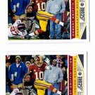 Robert Griffin III Trading Card Lot of (2) 2013 Score #214 Redskins