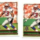 Terry Ray RC Trading Card Lot of (2) 1996 Topps #339 Patriots