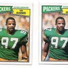 Tim Harris Trading Card Lot of (2) 1988 Topps #358 Packers NMNMT