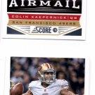 Colin Kaepernick Airmail Trading Card Lot of (2) 2013 Score #148 49ers