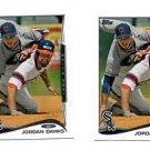 Jordan Danks Trading Card Lot of (2) 2014 Topps Mini Exclusives #649 White Sox