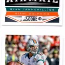 Ryan Tannehill Airmail Trading Card Lot of (2) 2013 Score #237 Dolphins