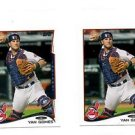 Yan Gomes Trading Card Lot of (2) 2014 Topps Mini Exclusives #620 Indians
