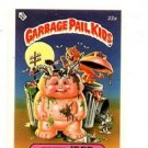 Junky Jeff Sticker Trading Card 1985 Topps Garbage Pail Kids UK Mini #22a