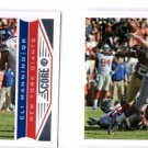 Eli Manning Trading Card Lot of (2) 2015 Topps Finest 137 Giants