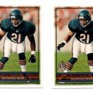 Donnell Woolford Trading Card Lot of (2) 1996 Topps #279 Bears