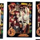 Tom Backes Trading Card Lot of (3) 1991 Wild Card Draft #76