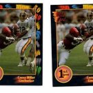 Corey Miller Trading Card Lot of (2) 1991 Wild Card Draft #9