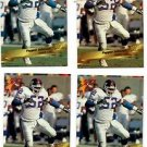 Pepper Johnson Trading Card Lot of (4) 1993 Wild Card #113 Giants